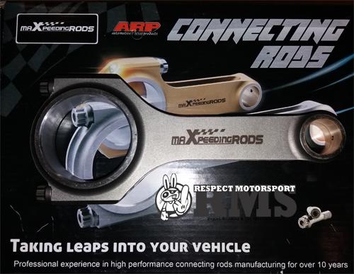 Alfa Romeo 145 147 156 166 1.8 2.0 Twin Spark TS Maxpeedingrods kovácsolt hajtókar szett ARP2000 hajtókarcsavarokkal