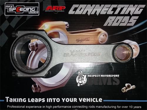 BMW 325 525 M52B25 140mm Maxpeeding Rods kovácsolt hajtókar szett ARP 2000 hajtókar csavarokkal
