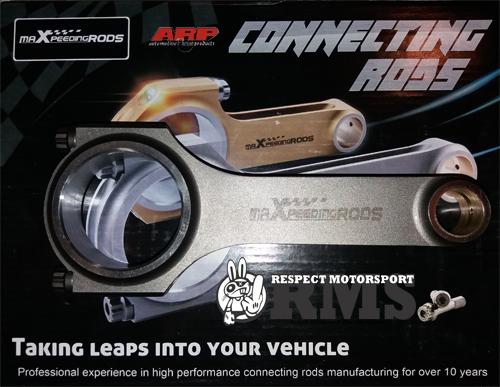 Audi S2 RS2 Maxpeedingrods H profilú kovácsolt hajtókar szett ARP 2000 hajtókar csavarokkal