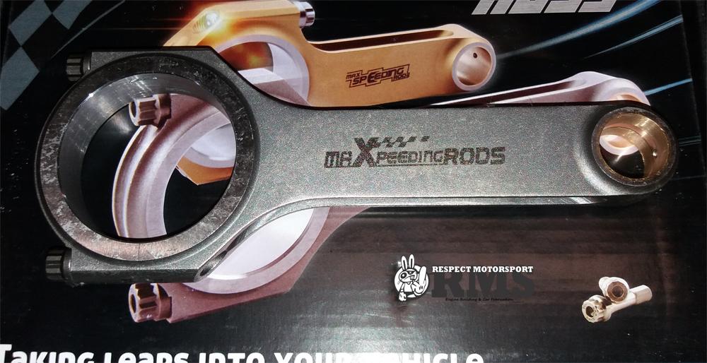 Audi RS4 2.7 bi-turbo Maxpeedingrods kovácsolt hajtókar szett ARP 2000 hajtókar csavarokkal