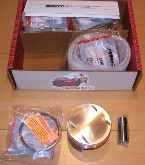 Nissan 180SX 200SX CA18DET Wiseco kovácsolt dugattyú szett